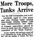 Troops and tanks to break the workers' strike